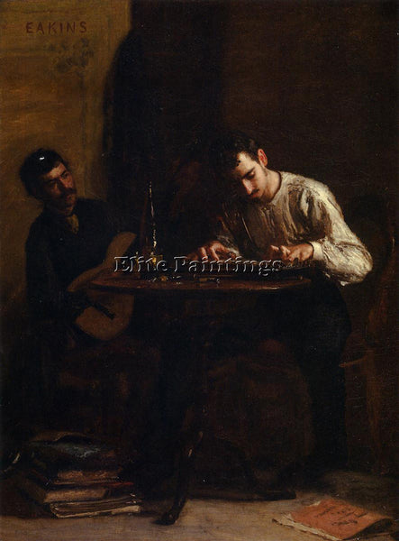 THOMAS EAKINS PROFESSIONALS AT REHEARSAL ARTIST PAINTING REPRODUCTION HANDMADE