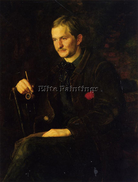 THOMAS EAKINS THE ART STUDENT AKA PORTRAIT OF JAMES WRIGHT ARTIST PAINTING REPRO
