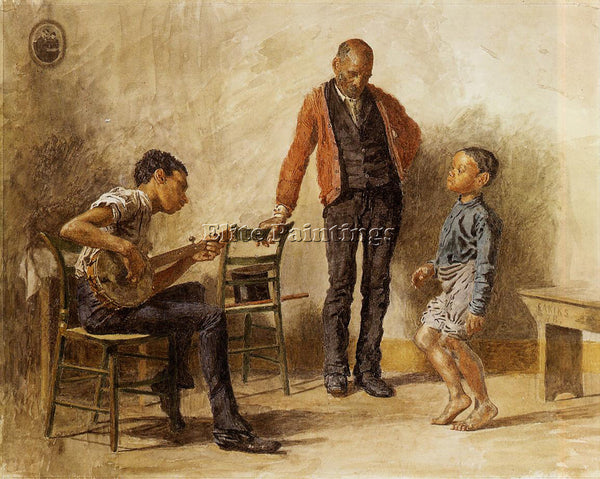 THOMAS EAKINS THE DANCING LESSON ARTIST PAINTING REPRODUCTION HANDMADE OIL REPRO