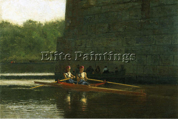 THOMAS EAKINS THE OARSMEN AKA THE SCHREIBER BROTHERS ARTIST PAINTING HANDMADE