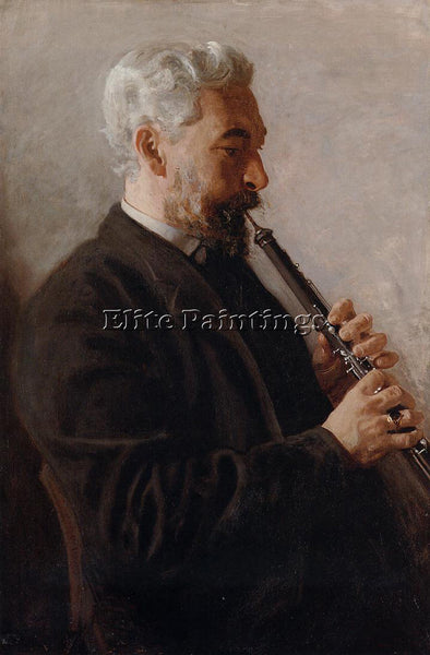 THOMAS EAKINS THE OBOE PLAYER AKA PORTRAIT OF BENJAMIN ARTIST PAINTING HANDMADE