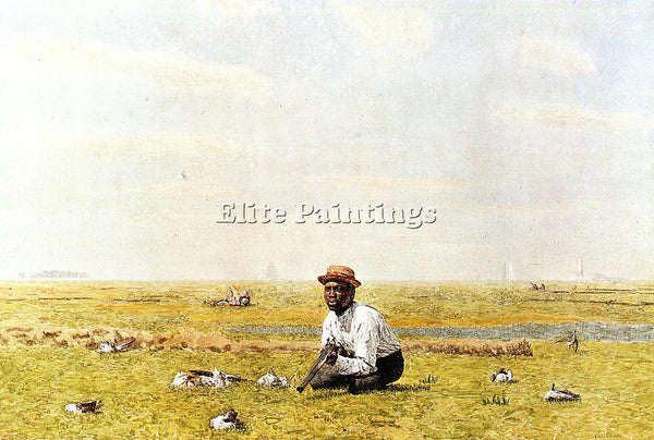 THOMAS EAKINS WHISTLING FOR PLOVER ARTIST PAINTING REPRODUCTION HANDMADE OIL ART