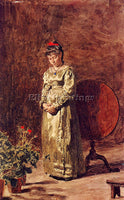 THOMAS EAKINS YOUNG GIRL MEDITATING ARTIST PAINTING REPRODUCTION HANDMADE OIL