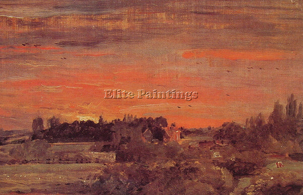 JOHN CONSTABLE EAST BERGHOLT RECTORY ARTIST PAINTING REPRODUCTION HANDMADE OIL