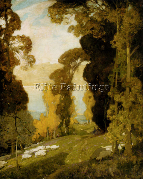 BRITISH EAST SIR ALFRED LAKE BOURGET FROM MOUNT REVARD SAVOY ARTIST PAINTING OIL
