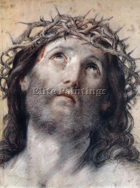 GUIDO RENI ECCE HOMO ARTIST PAINTING REPRODUCTION HANDMADE OIL CANVAS REPRO WALL