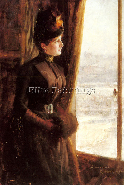 ALBERT EDELFELT A PORTRAIT OF MADAME VALLERY RADOT ARTIST PAINTING REPRODUCTION