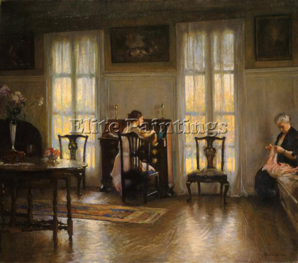 EDMUND CHARLES TARBELL MOTHER AND MARY NGA ARTIST PAINTING REPRODUCTION HANDMADE