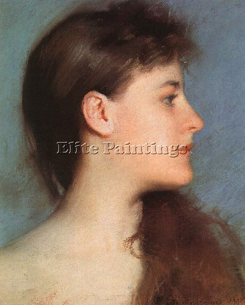 EDMUND CHARLES TARBELL PROFILE ARTIST PAINTING REPRODUCTION HANDMADE OIL CANVAS