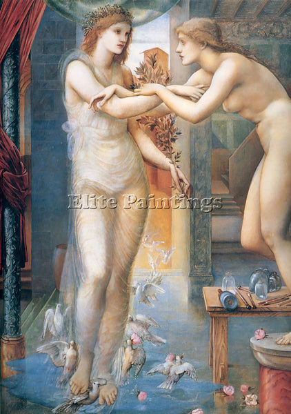 BRITISH EDWARD BURNE JONES GALATAEA ARTIST PAINTING REPRODUCTION HANDMADE OIL