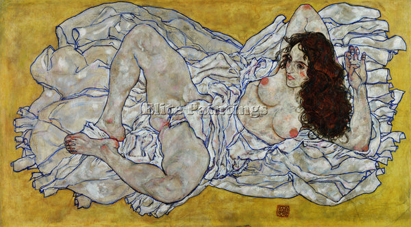 EGON SCHIELE RESTING NUDE ARTIST PAINTING REPRODUCTION HANDMADE OIL CANVAS REPRO