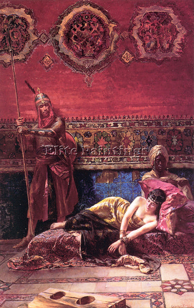HUNGARIAN EISENHUT FERENC THE PASHAS CONCUBINE ARTIST PAINTING REPRODUCTION OIL