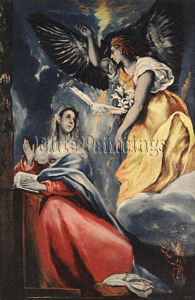 EL GRECO EL GRECO 1600 10 THE ANNUNCIATION ARTIST PAINTING REPRODUCTION HANDMADE