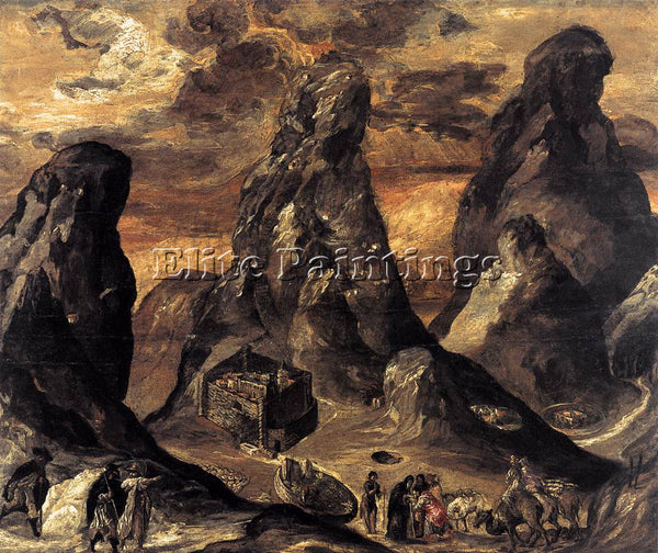 GREEK EL GRECO MOUNT SINAI ARTIST PAINTING REPRODUCTION HANDMADE OIL CANVAS DECO