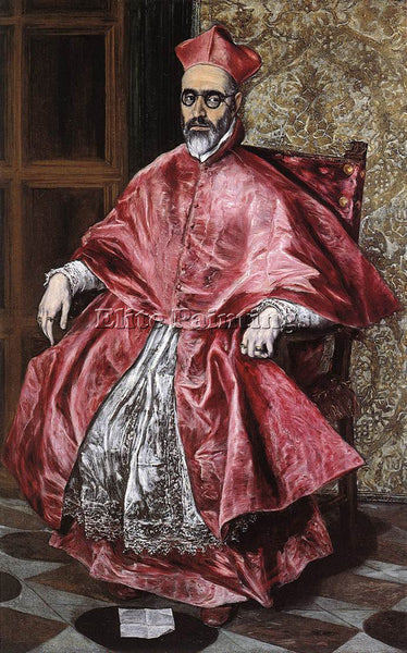 EL GRECO PORTRAIT OF A CARDINAL ARTIST PAINTING REPRODUCTION HANDMADE OIL CANVAS