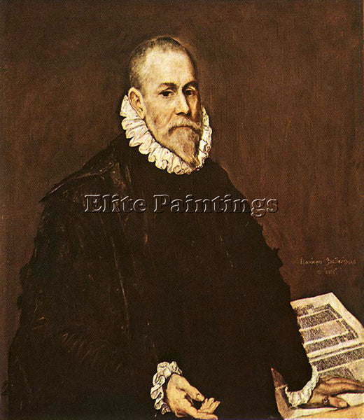 EL GRECO PORTRAIT OF A DOCTOR 1577 84 ARTIST PAINTING REPRODUCTION HANDMADE OIL