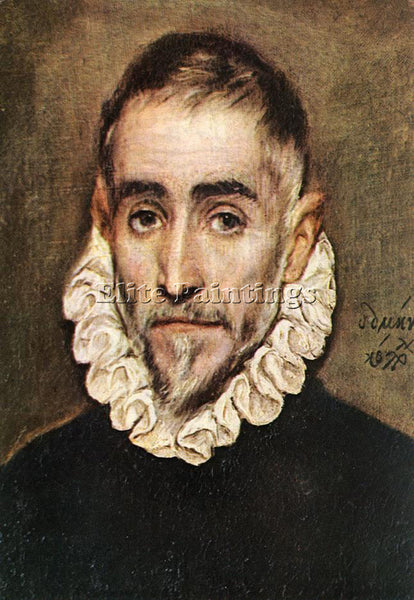EL GRECO PORTRAIT OF AN ELDER NOBLEMAN 1584 94 ARTIST PAINTING REPRODUCTION OIL