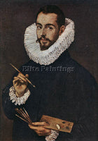EL GRECO PORTRAIT OF THE ARTIST S SON JORGE MANUEL ARTIST PAINTING REPRODUCTION