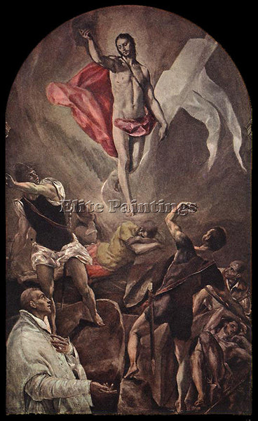 EL GRECO RESURRECTION 1577 9 ARTIST PAINTING REPRODUCTION HANDMADE CANVAS REPRO