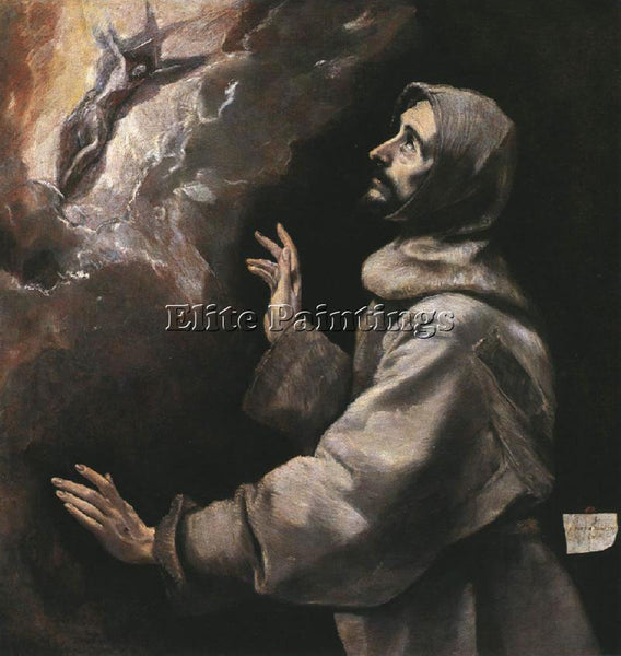 EL GRECO ST FRANCIS RECEIVING THE STIGMATA 1577 9 ARTIST PAINTING REPRODUCTION