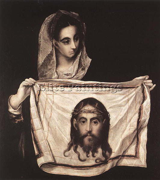 EL GRECO ST VERONICA WITH THE SUDARY 1579 ARTIST PAINTING REPRODUCTION HANDMADE