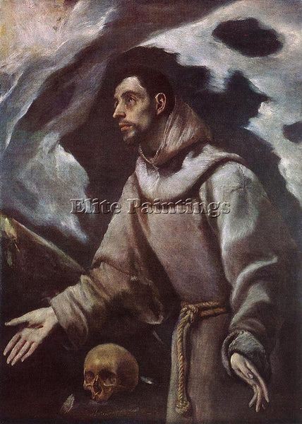 EL GRECO THE ECSTASY OF ST FRANCIS C1580 ARTIST PAINTING REPRODUCTION HANDMADE
