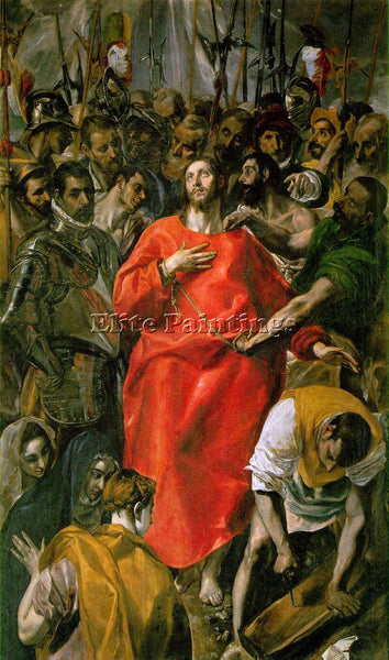 EL GRECO THE SPOLIATION 1577 9 ARTIST PAINTING REPRODUCTION HANDMADE OIL CANVAS