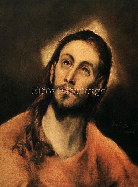 GREEK EL GRECO CHRIST 1585 ARTIST PAINTING REPRODUCTION HANDMADE OIL CANVAS DECO