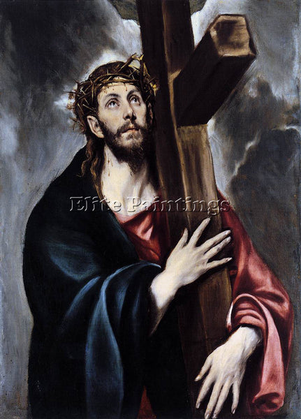 GREEK EL GRECO CHRIST CARRYING THE CROSS 1 ARTIST PAINTING REPRODUCTION HANDMADE