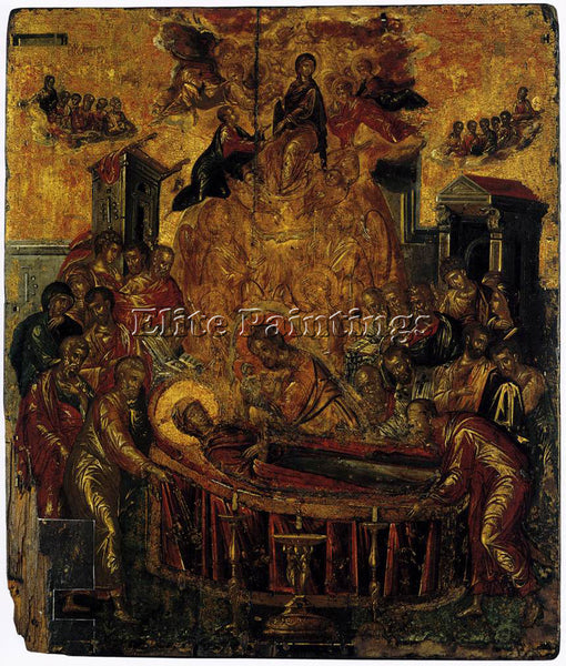 GREEK EL GRECO DORMITION OF THE VIRGIN 1566 ARTIST PAINTING HANDMADE OIL CANVAS