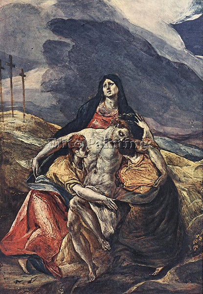 GREEK EL GRECO PIETA THE LAMENTATION OF CHRIST 1575 ARTIST PAINTING REPRODUCTION