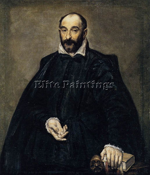 GREEK EL GRECO PORTRAIT OF A MAN ANDREA PALLADIO 1575 ARTIST PAINTING HANDMADE