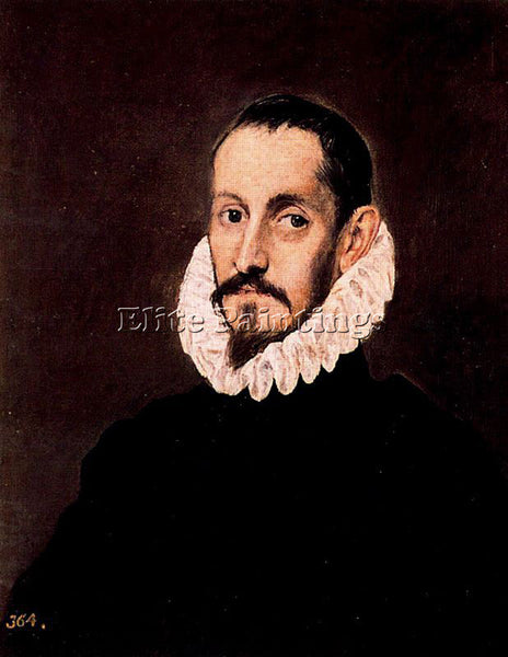 GREEK EL GRECO PORTRAIT OF A MAN ARTIST PAINTING REPRODUCTION HANDMADE OIL REPRO