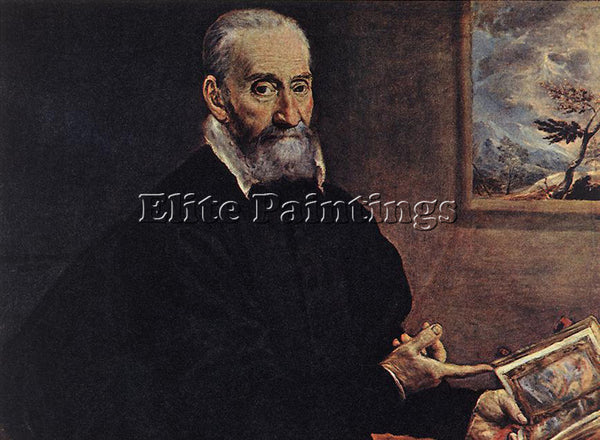 GREEK EL GRECO PORTRAIT OF GIULIO CLOVIO LARGE ARTIST PAINTING REPRODUCTION OIL
