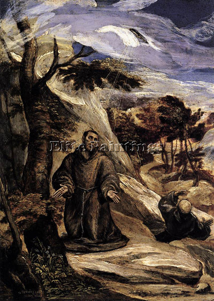 GREEK EL GRECO ST FRANCIS RECEIVING THE STIGMATA 2 ARTIST PAINTING REPRODUCTION