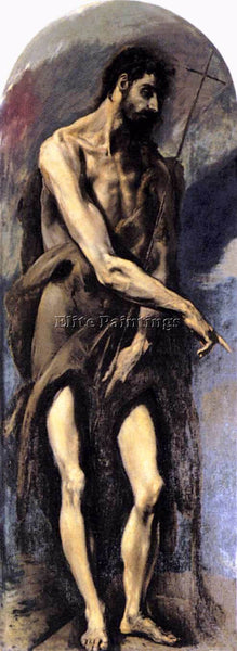 GREEK EL GRECO ST JOHN THE BAPTIST 1579 ARTIST PAINTING REPRODUCTION HANDMADE