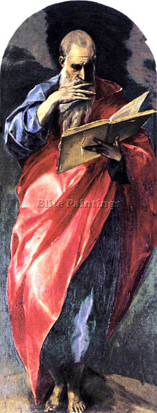 GREEK EL GRECO ST JOHN THE EVANGELIST 1579 ARTIST PAINTING REPRODUCTION HANDMADE