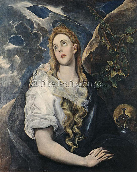 GREEK EL GRECO ST MARY MAGDALENE ARTIST PAINTING REPRODUCTION HANDMADE OIL REPRO