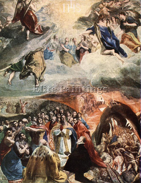GREEK EL GRECO THE ADORATION OF THE NAME OF JESUS ARTIST PAINTING REPRODUCTION