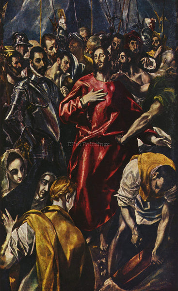 GREEK EL GRECO THE DISROBING OF CHRIST 1579 ARTIST PAINTING HANDMADE OIL CANVAS
