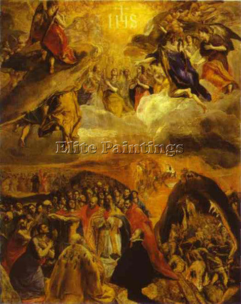 GREEK EL GRECO THE DREAM OF PHILIP II 1579 ARTIST PAINTING REPRODUCTION HANDMADE