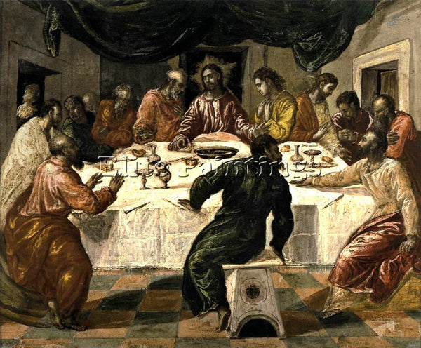 GREEK EL GRECO THE LAST SUPPER ARTIST PAINTING REPRODUCTION HANDMADE OIL CANVAS