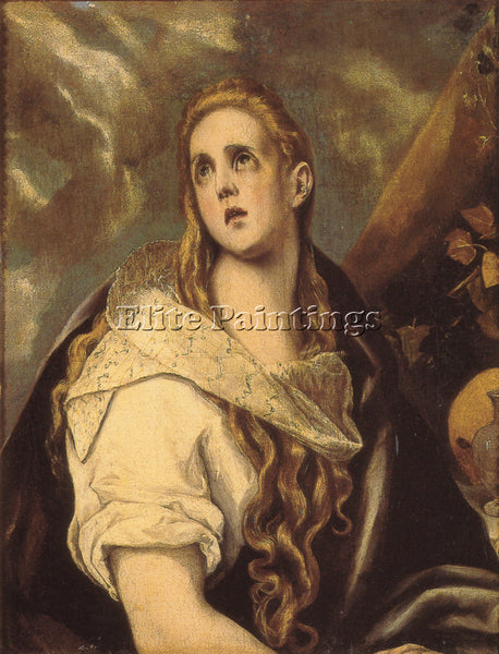 GREEK EL GRECO THE PENITENT MAGDALENE 1578 ARTIST PAINTING REPRODUCTION HANDMADE
