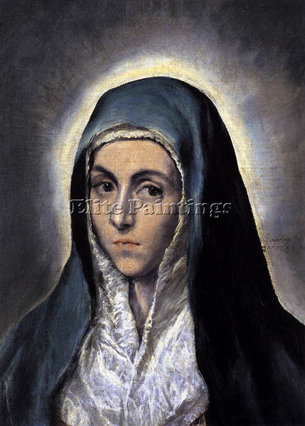 GREEK EL GRECO VIRGIN MARY 1 ARTIST PAINTING REPRODUCTION HANDMADE CANVAS REPRO