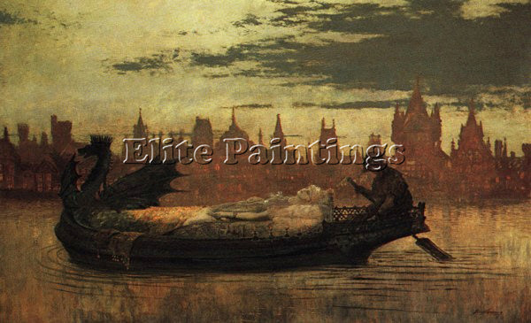 JOHN ATKINSON GRIMSHAW ELAINE1 ARTIST PAINTING REPRODUCTION HANDMADE OIL CANVAS