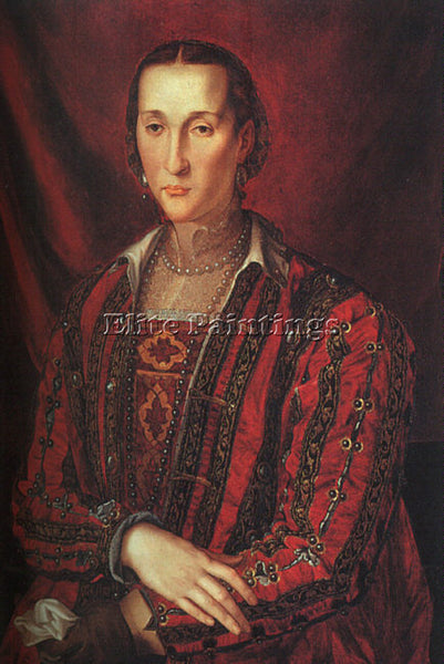AGNOLO BRONZINO ELEONORA OF TOLEDO ARTIST PAINTING REPRODUCTION HANDMADE OIL ART