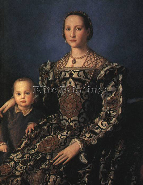 AGNOLO BRONZINO ELEONORA OF TOLEDO AND SON ARTIST PAINTING REPRODUCTION HANDMADE