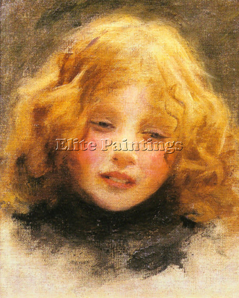 ARTHUR JOHN ELSLEY HEAD STUDY OF A YOUNG GIRL ARTIST PAINTING REPRODUCTION OIL