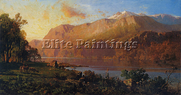 THOMAS HILL EMERALD LAKE NEAR TAHOE 1890 1900 ARTIST PAINTING REPRODUCTION OIL