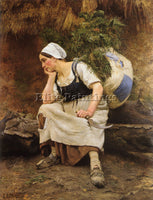 FRENCH EMILE RENARD LE REPOS ARTIST PAINTING REPRODUCTION HANDMADE CANVAS REPRO